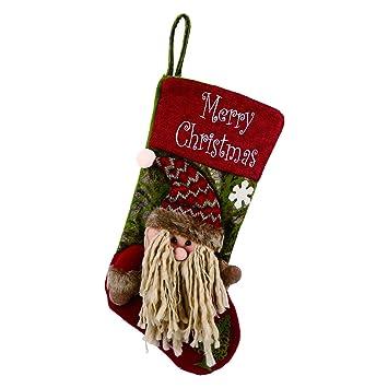 Weihnachtsstrümpfe Forhouse 3D Retro Personalisierte Weihnachtssocken  Dekoration Weihnachtsbaum Kamin Suspension Neujahr Weihnachten Socken  Weihnachten ...