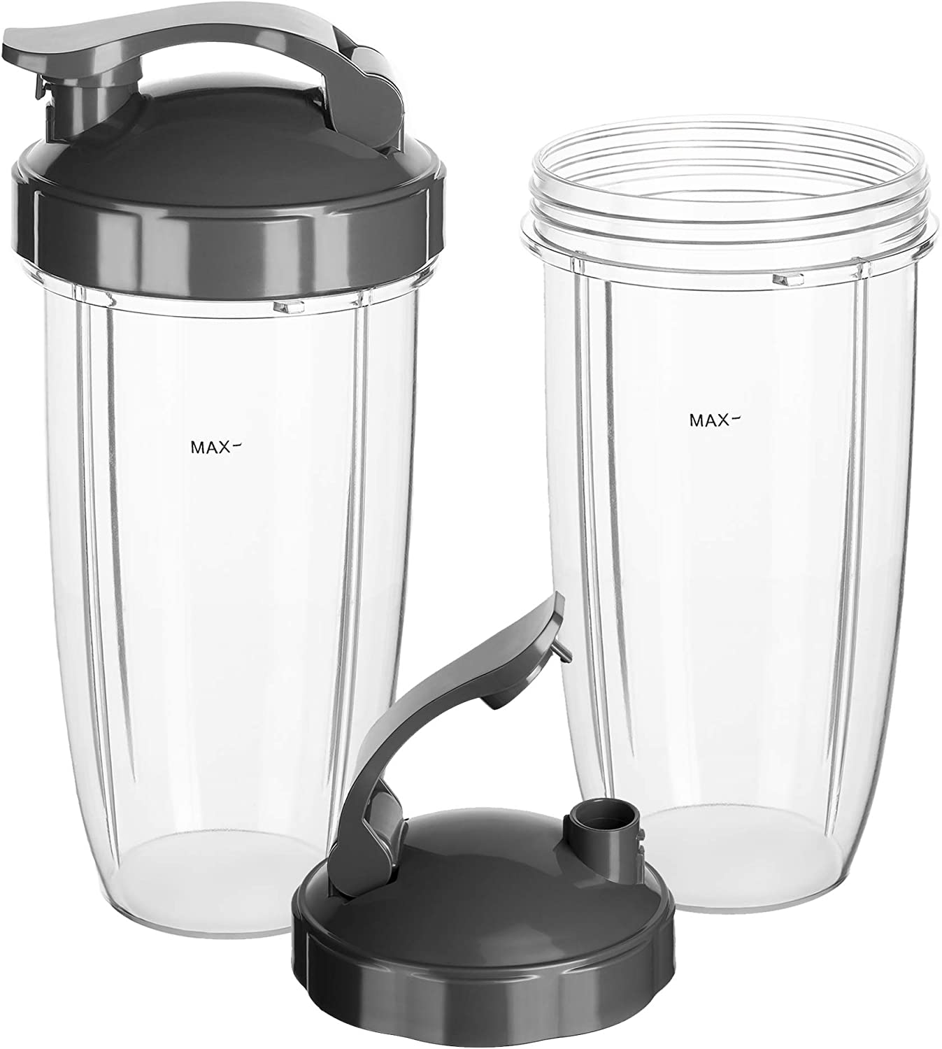 Replacement Cups 32 Oz with Flip Top To Go Lid Compatible with Original Nutribullet Blenders 600W & 900W 2 pack Replacement Parts & Accessories