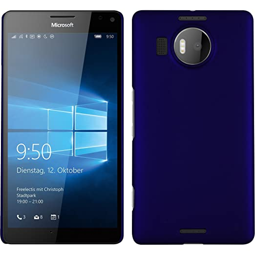 4 opinioni per Custodia Rigida per Microsoft Lumia 950 XL- gommata blu- Cover PhoneNatic +