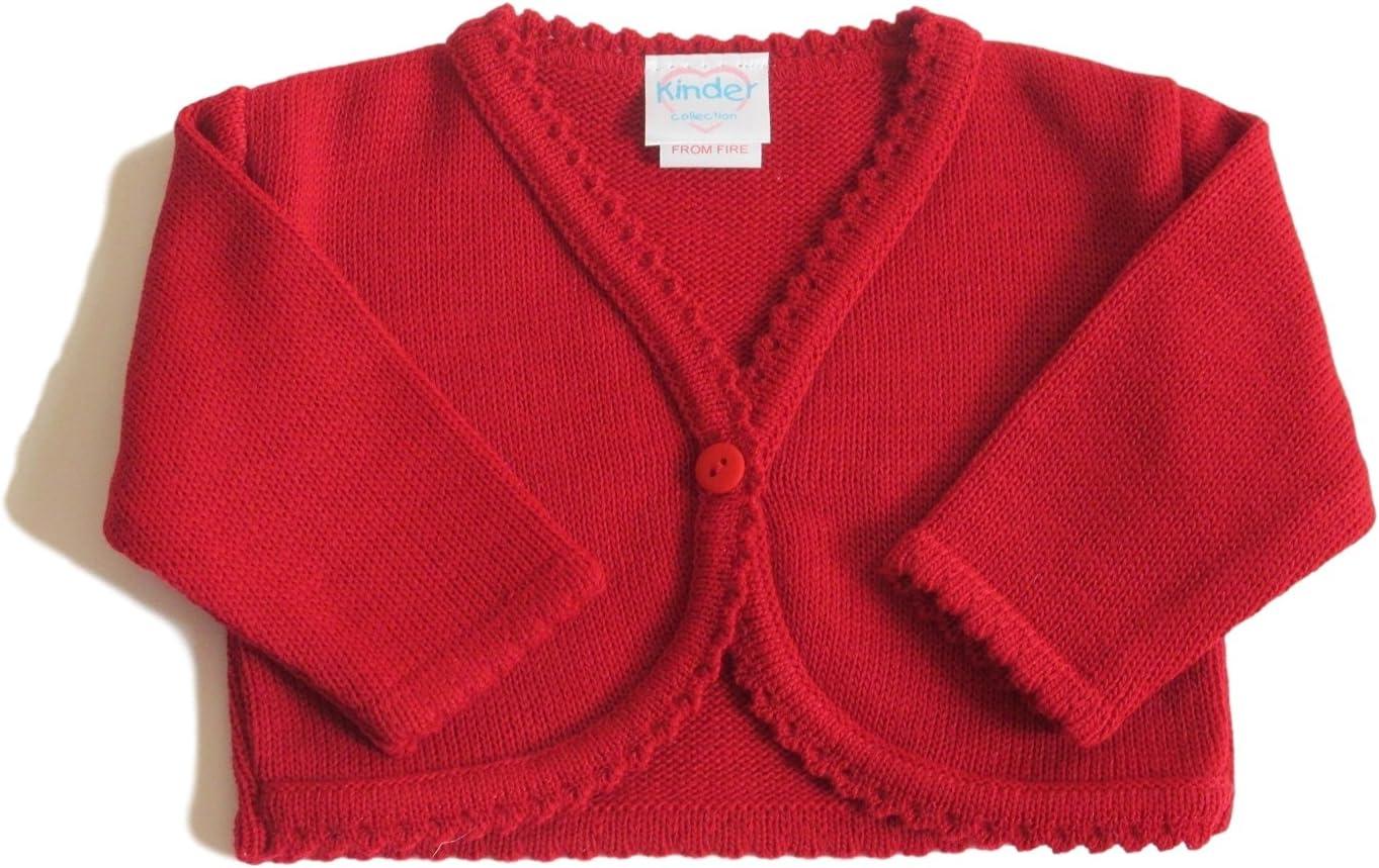 3-6 Months Red Girls Cardigan Bolero