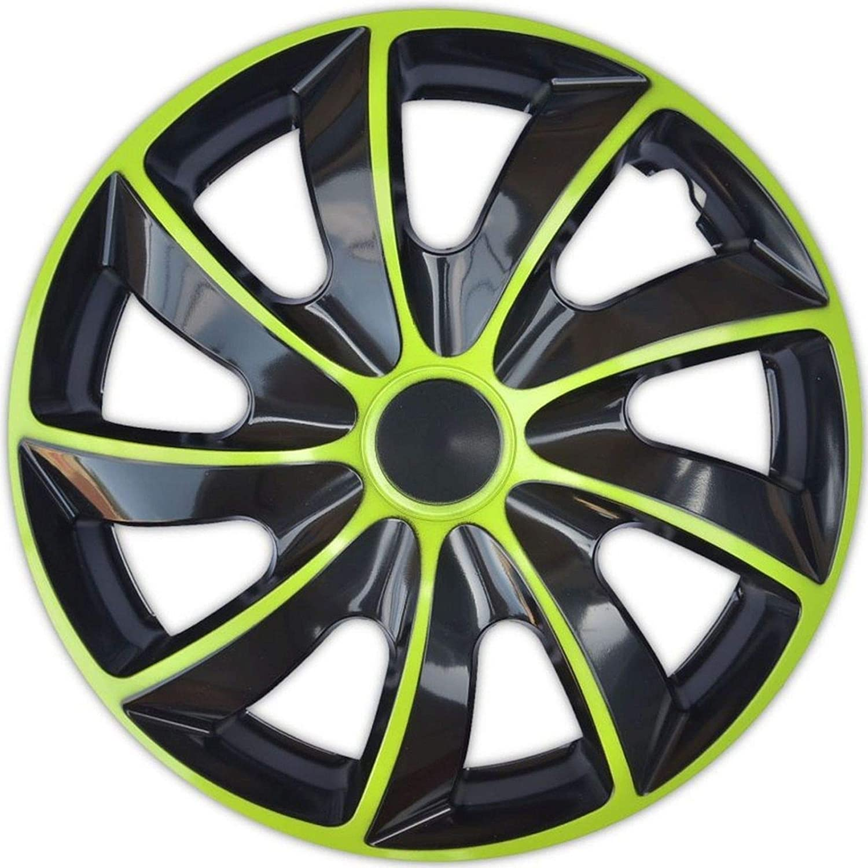 15 Pollici 4 Pezzi Copricerchi NRM Autoteppich Stylers Colore: Verde