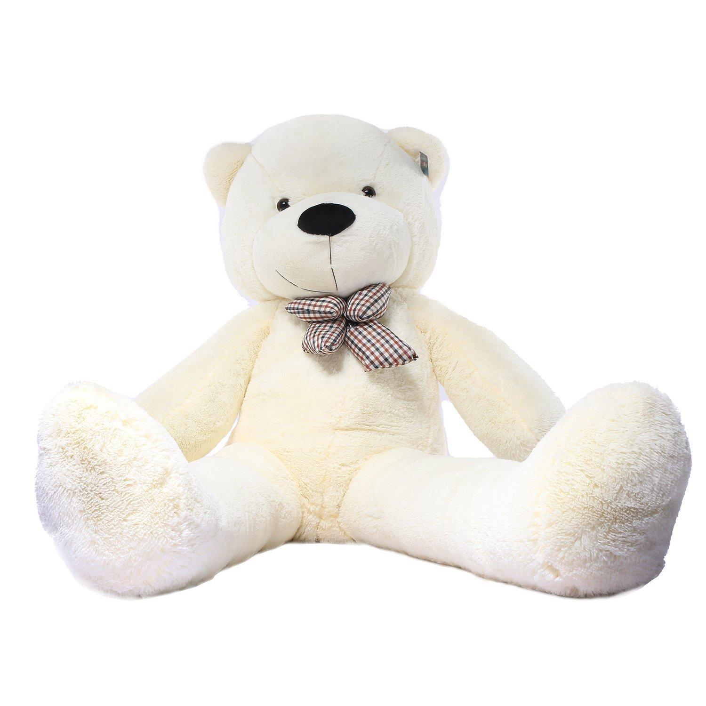 160 cm Joyfay Giant Teddy Bear Big Teddy Bear Plush Toy Gift for Birthday Christmas Valentine (120 cm, White)