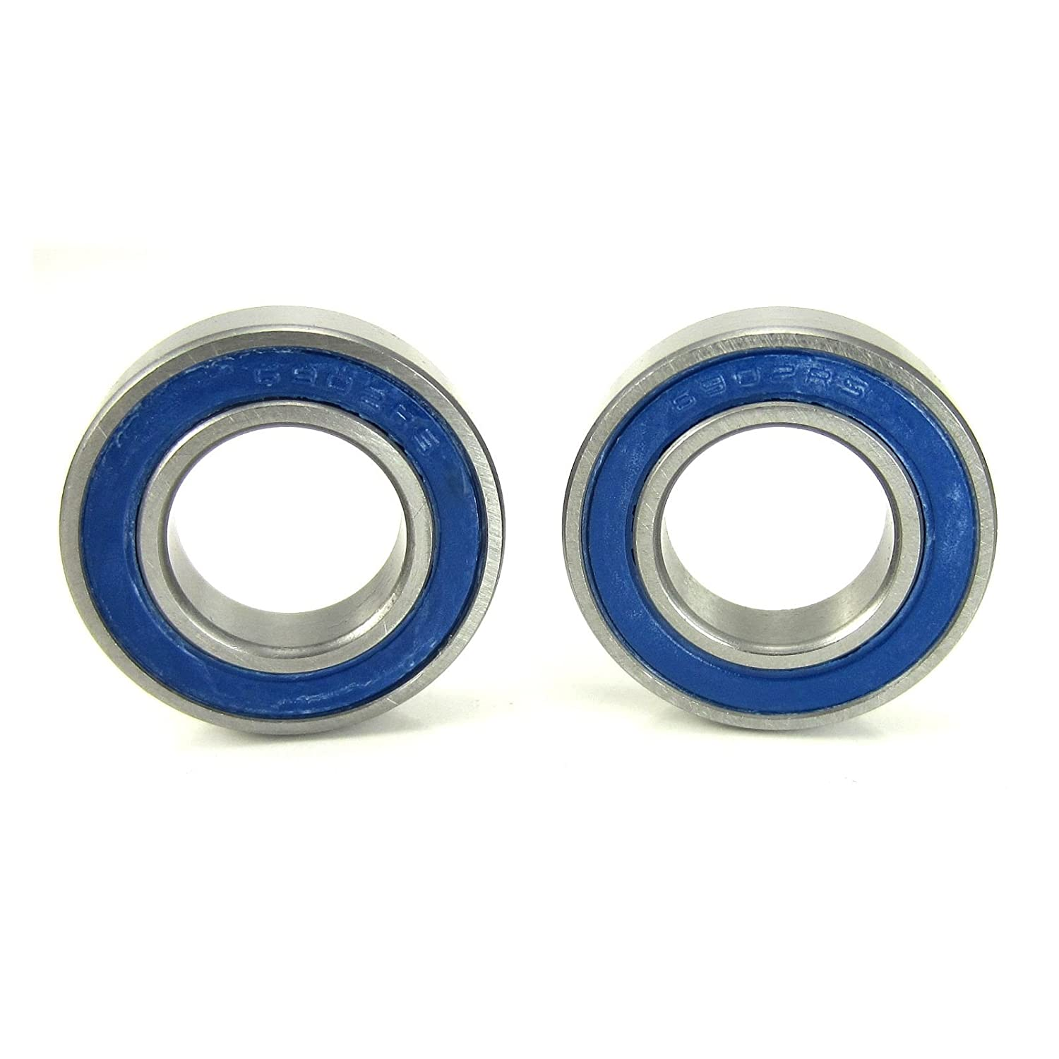 15x28x7mm Precision Ball Bearings ABEC 3 Blue Rubber Seals (2) TRB RC