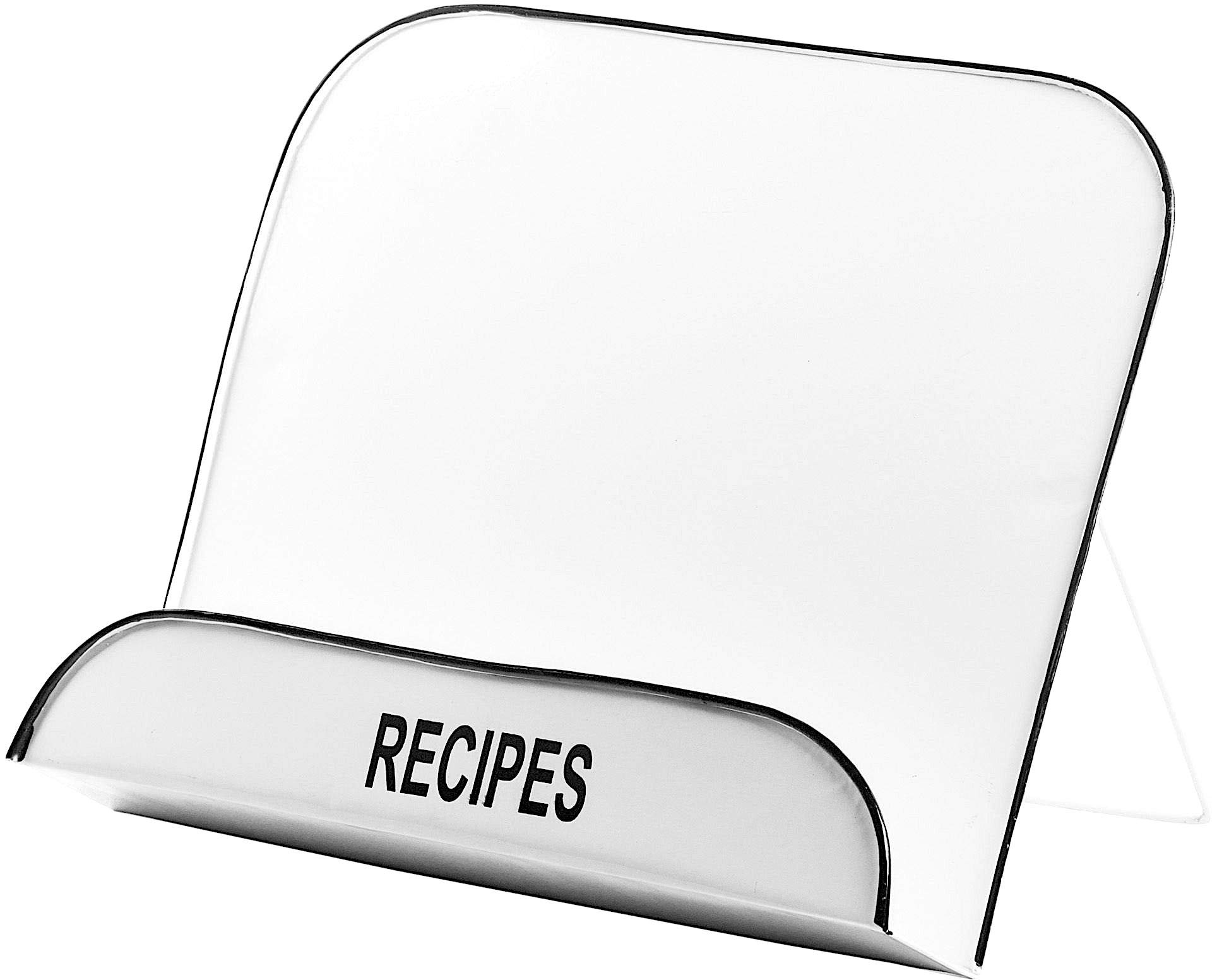 Home Essentials 10''H Cookbook/Tablet Stand White Enamel by Home Essentials