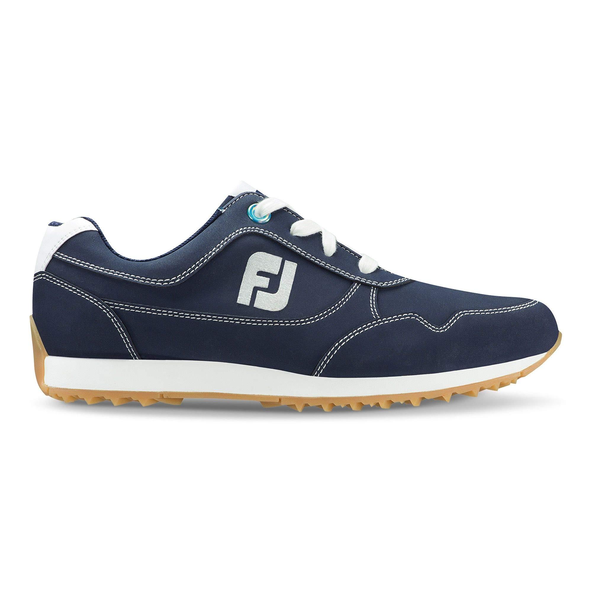 FootJoy Women's Sport Retro Golf Shoes Blue 8 W, Navy, US by FootJoy