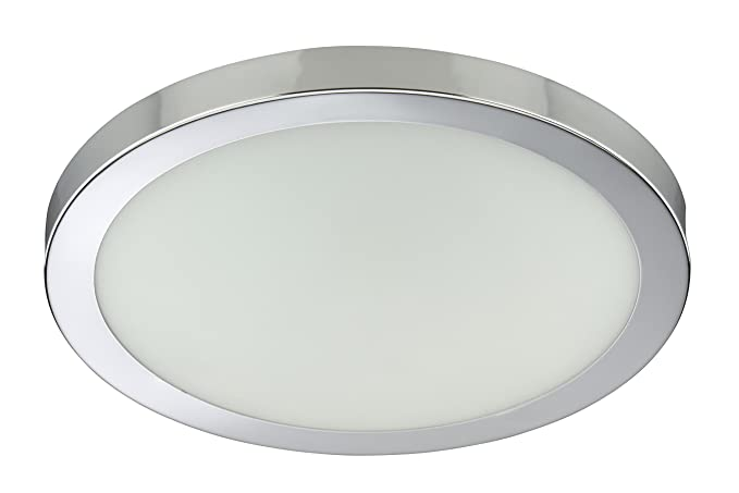 Moderne Lampen 9 : Briloner leuchten ceiling light with dekorring 4148 018 chrome
