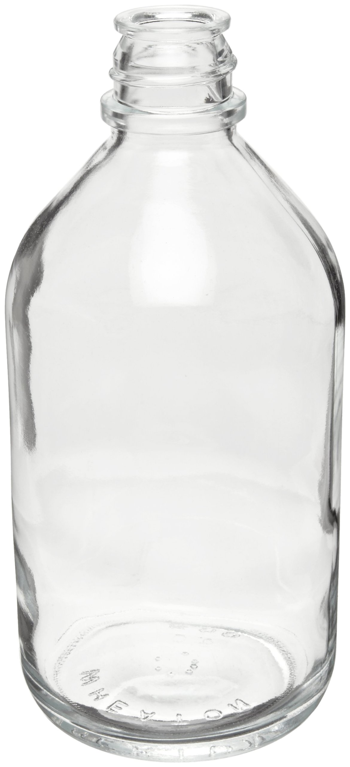 Wheaton 219419 Media Bottle, 500mL Clear Non-Graduated Without 33-430 Screw Cap, Autoclavable (Case of 24)
