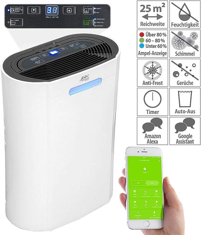 Deshumidificador 10L/día compatible con Amazon Alexa & Google ...