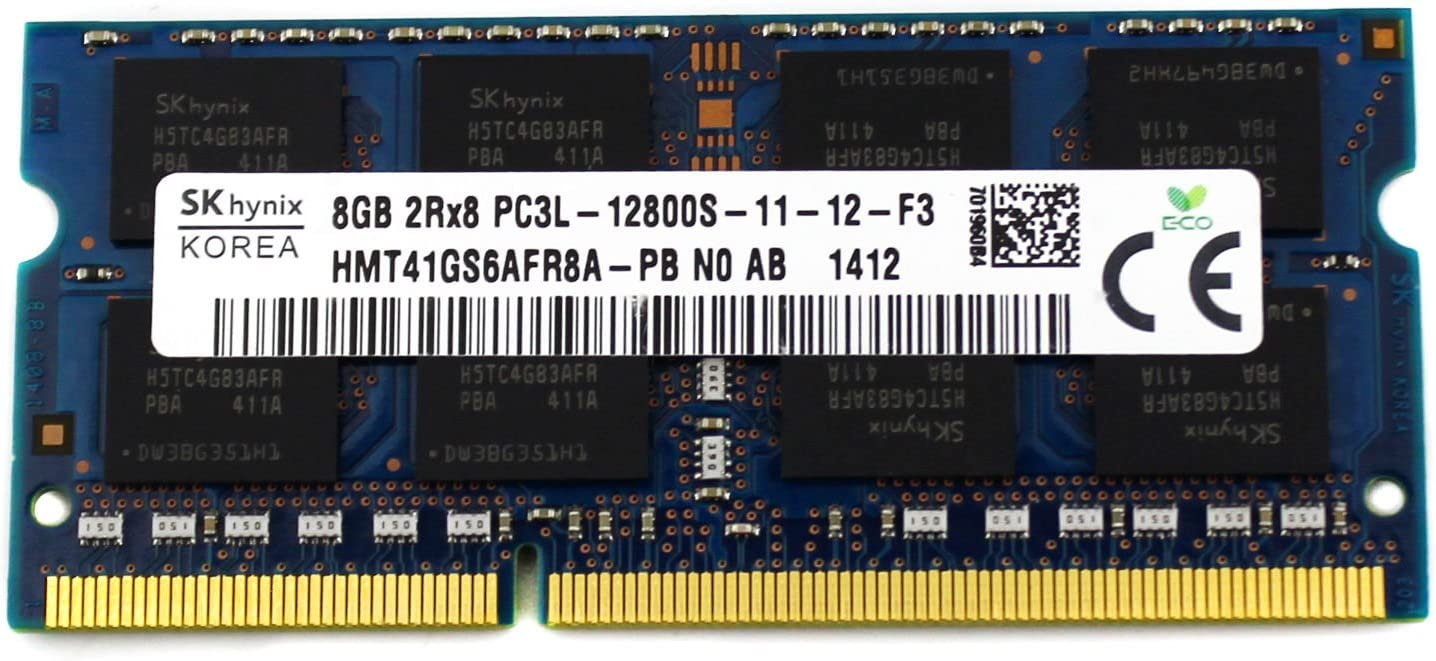 Hynix 8GB DDR3 Memory SO-DIMM 204pin PC3L-12800S 1600MHz HMT41GS6AFR8A-PB