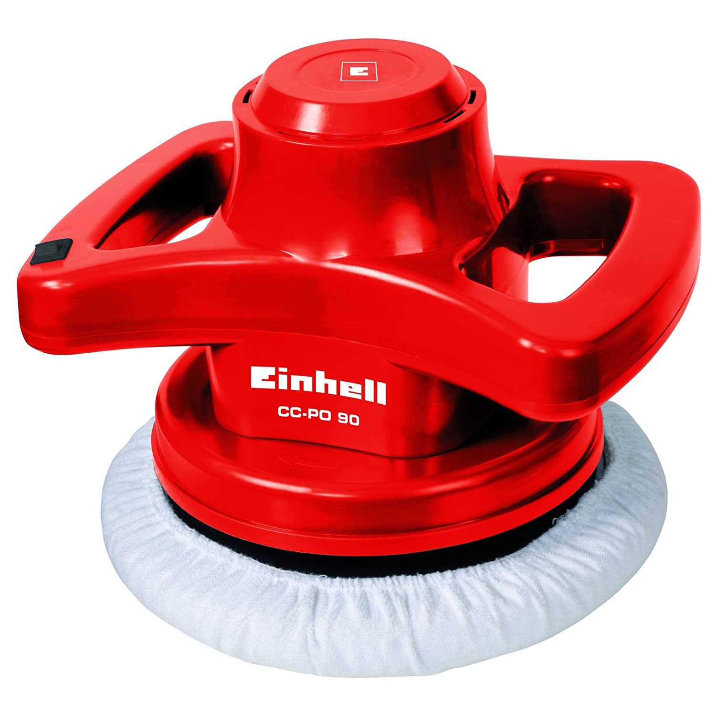 Einhell CC-PO Lucidatrice per Auto con Platorello da 240 mm, 90 W, 3700 RPM, Rosso 2093173