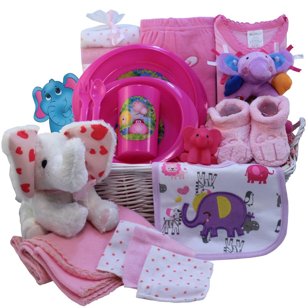 Ellie the elephant baby gift basket pink girls amazon ellie the elephant baby gift basket pink girls amazon grocery gourmet food negle Gallery