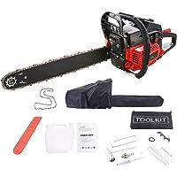 Kettensäge 52 cm³, 3.0 PS, Sägeblatt 51 cm, 1 Ketten und Tasche, inkl. Tool Kit mit Montagewerkzeug (52 cc)