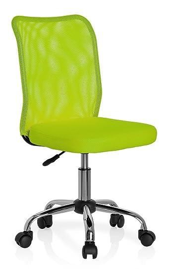 Kinderschreibtischstuhl ohne rollen  hjh OFFICE 685972 Kinderschreibtischstuhl KIDDY NET Netzstoff grün ...