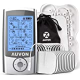 "AUVON Rechargeable TENS Unit Muscle Stimulator, 2nd Gen16 Modes 2-in-1 EMS TENS Machine with Upgraded Self-Adhesive Reusable TENS Electrodes Pads (2""x2"" 12pack, 2""x4"" 2pack)"