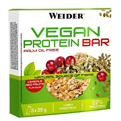 JOE WEIDER VICTORY Vegan Protein Bar Frutos rojos 3 u, 35 g