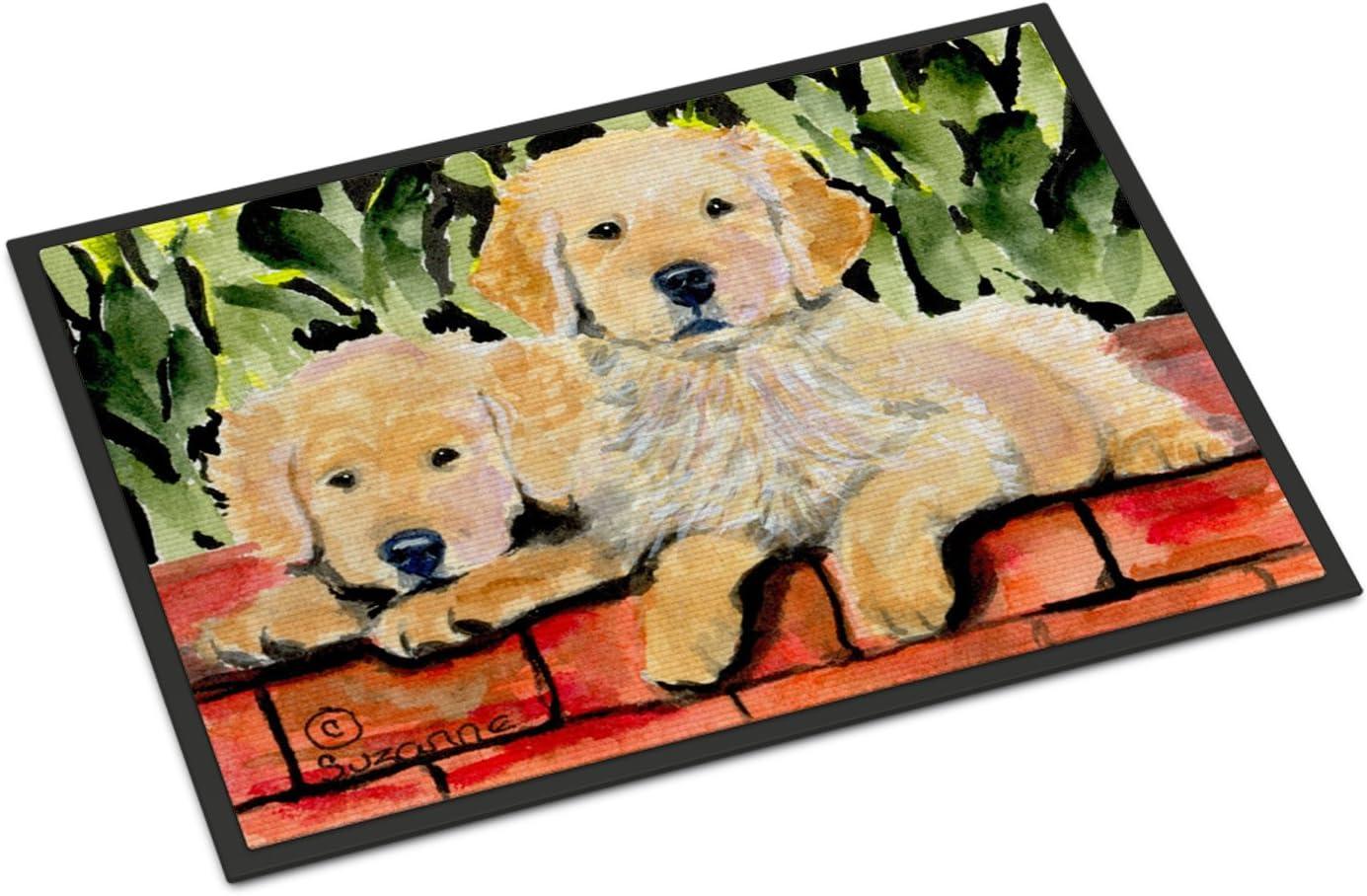 Caroline s Treasures SS8908JMAT Golden Retriever Indoor or Outdoor Mat 24×36 Doormat, 24H X 36W, Multicolor