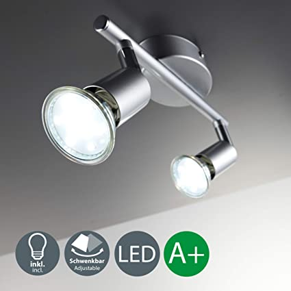 LED Deckenleuchte Schwenkbar Inkl. 2 x 3W Leuchtmittel GU10 LED Deckenlampe LED Deckenstrahler LED Leuchte LED Deckenspot