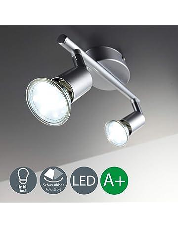 B.K.Licht Lámpara de techo con focos giratoria incl. 2 x 3 W bombillas LED