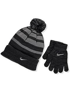 b0e61fbbc52 Amazon.com  Nike Boy`s Reversible Beanie and Gloves Set  Sports ...