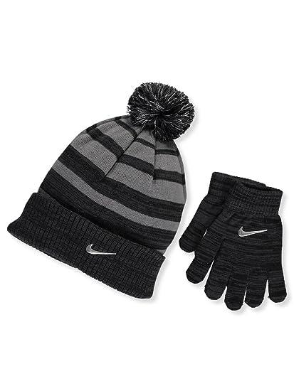 039f584b3 Amazon.com: Nike 2-Piece Premium Big Boys Knit Hat & Glove Set, Grey ...
