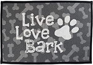 Cute Dog Food and Water Bowl Mat, Feeding Placemat for Pet Bowls, Plates and Dishes, Feeder Pad for Dogs - Machine Washable Anti-Mess Floor Place Mats and Pads for Pets