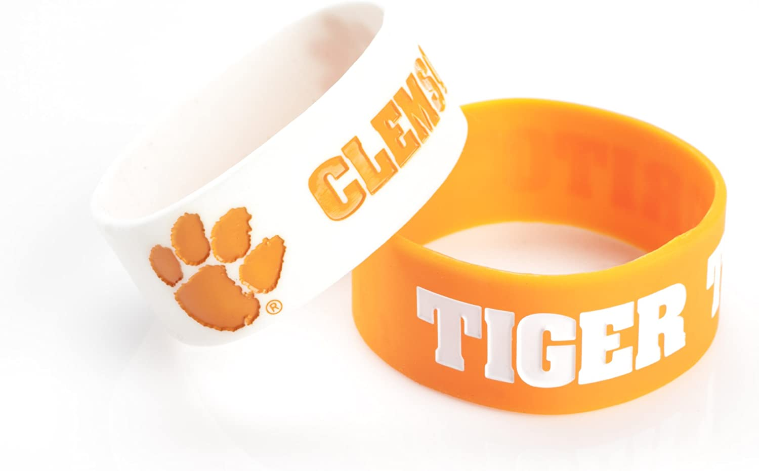 NCAA Silicone Rubber Bracelet, 2-Pack