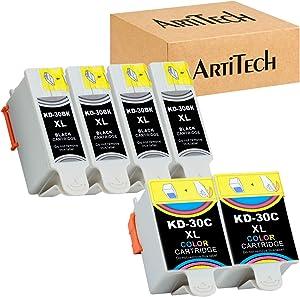 Replacement for Kodak 30XL Compatible Ink Cartridges (4 Black, 2 Color) Use for Kodak ESP 3.2, C110, C310, C315, Office 2150, Office 2170, Hero 3.1 Hero 5.1 Series Printers 1550532 1341080
