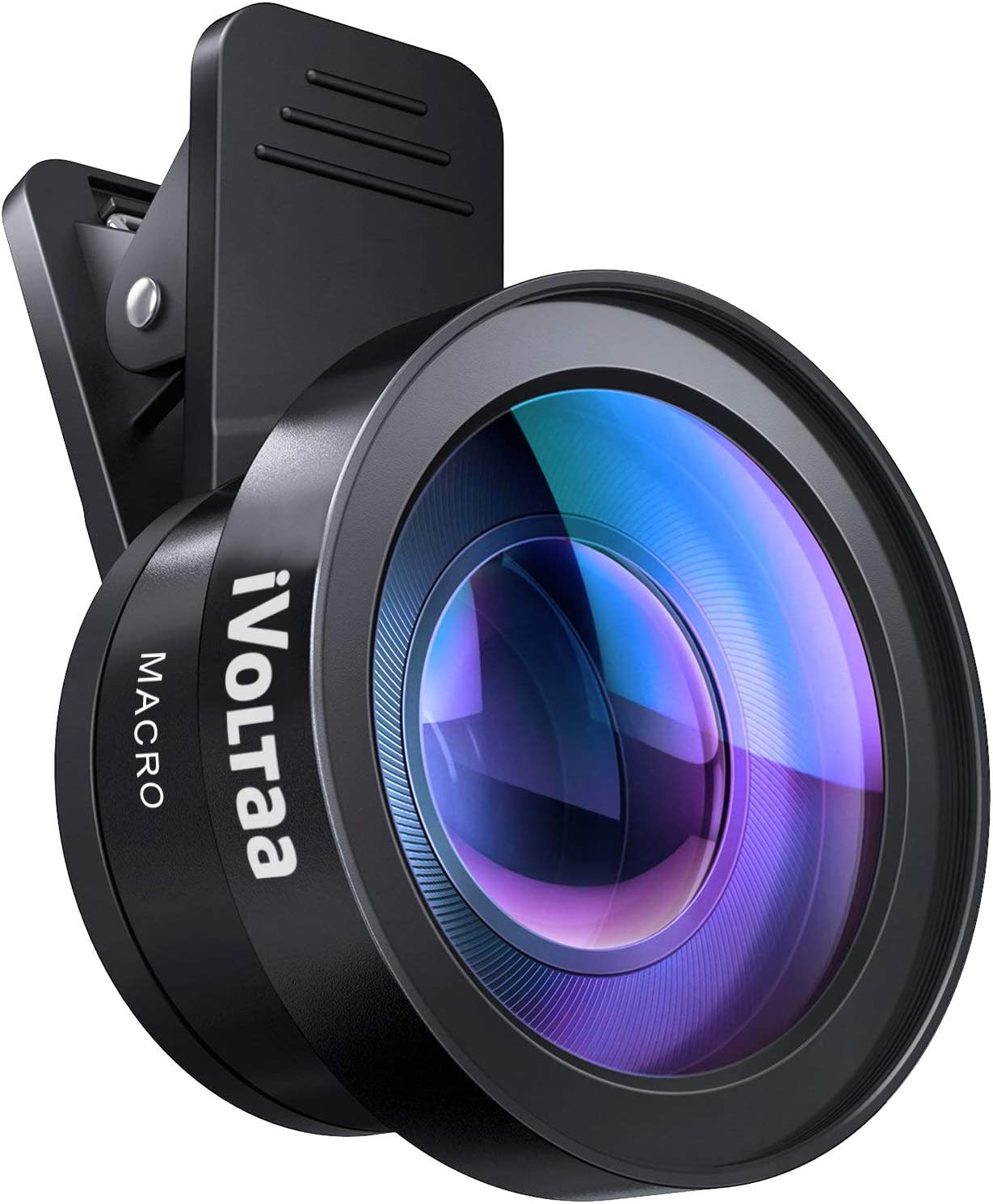 iVoltaa Universal Mobile Lens iVMO-2PL Pro-Kit 2 in1 Wide Angle and Macro Lens (Black)