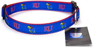 product image for Kansas Jayhawks Ribbon Dog Collar - Small