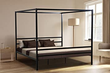 Amazoncom Oliver Smith Modern Heavy Duty Black Iron Metal - Heavy duty bedroom furniture
