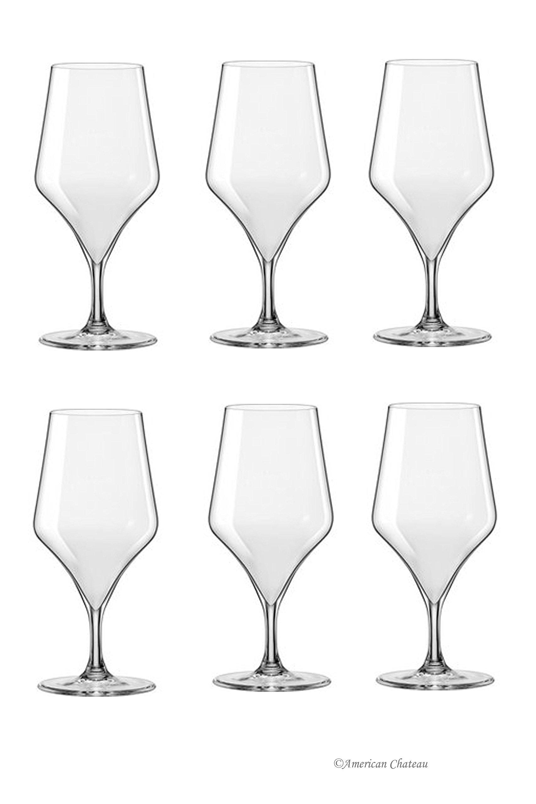 Set of 12 Bohemia Crystal Stem Water/Wine Goblet Glasses