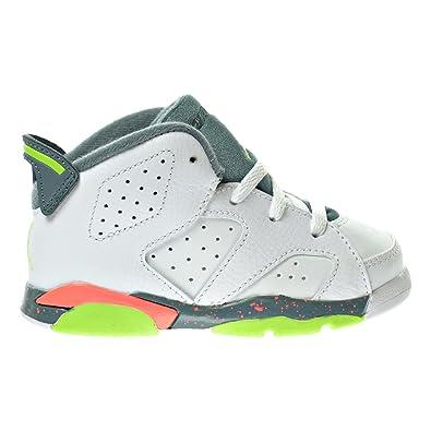 best value 9e087 d618f Jordan 6 Retro BT Toddler s Shoes White Ghost Green Hasta Bright Mango  384667