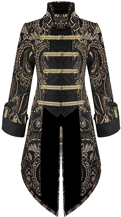 Manteau Homme Steampunk Vintage Manche Longues Gothique