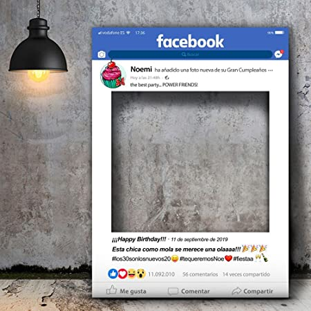 setecientosgramos Photocall Facebook | 80x110 | Ventana Facebook | Marco Facebook | PhotoBooth Facebook (Cartón 4mm)