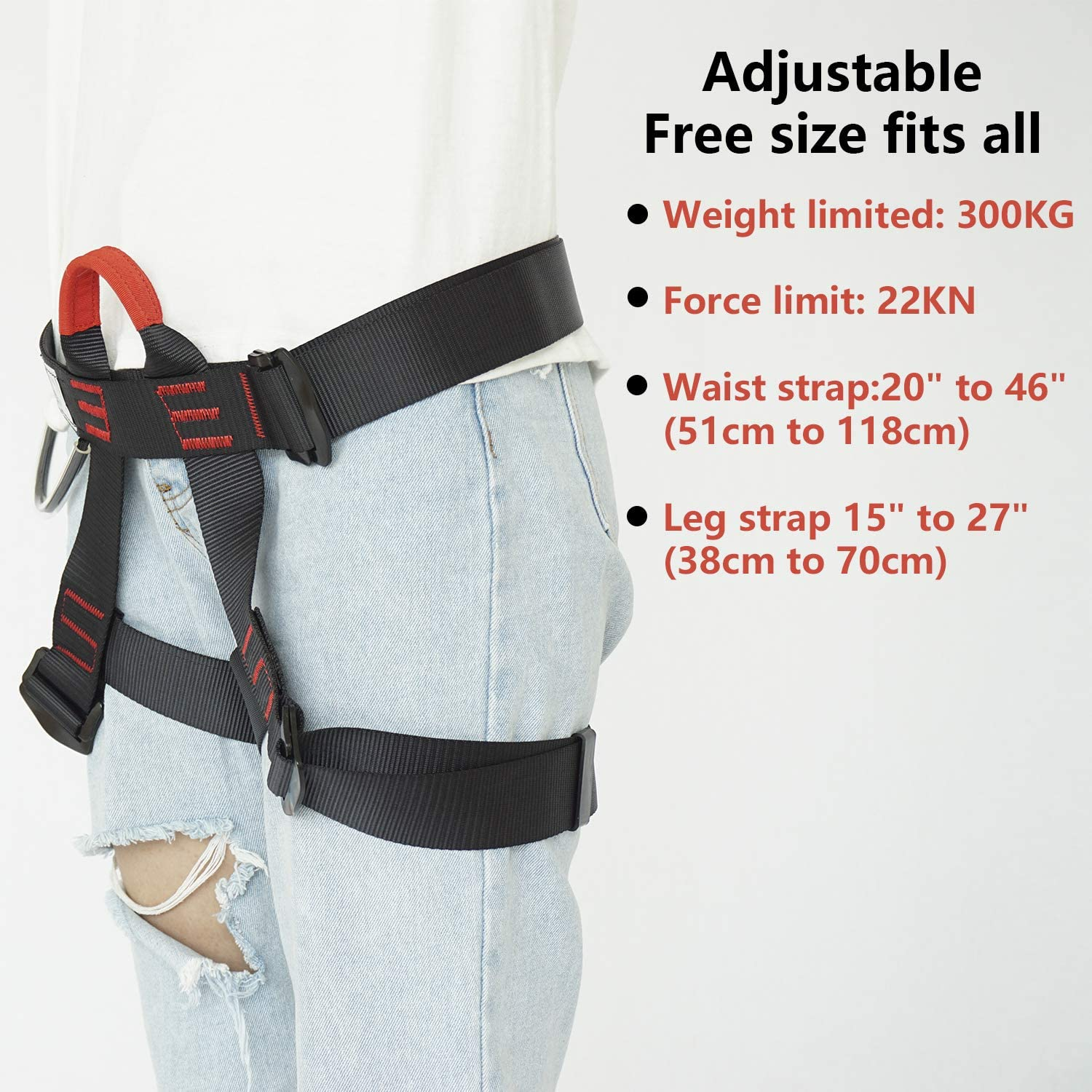 AmazeFan Climbing Harness, Thicken Rock Climbing Harness for Men Women, Protect Waist Safety Harness, Wider Half Body Harness for Mountaineering Rock Climbing Fire Rescuing Rappelling Tree Climbing : Sports & Outdoors