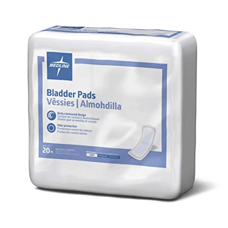 Amazon.com: Medline Bladder Control Incontinence Pads, Moderate Absorbency, 3 Inch x 10.5 Inch, 16 Count (Pack of 9): Industrial & Scientific