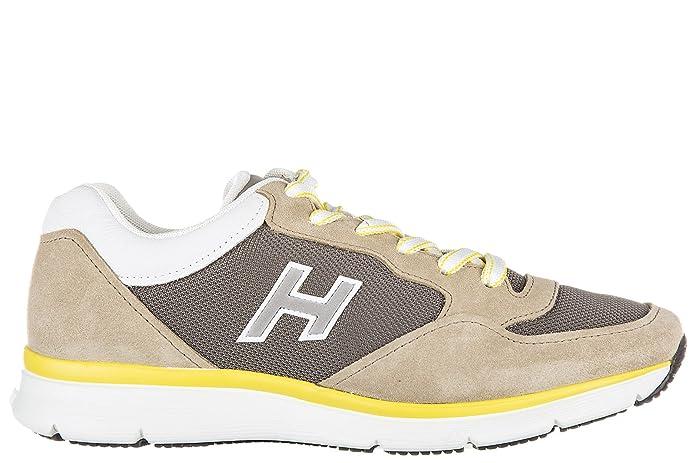 Chaussures baskets sneakers homme en daim h254 h flock t2015 Hogan Lt4H8IS