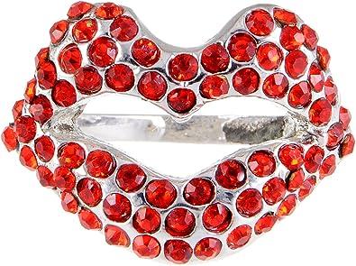 super cute vintage 80/'s LIPS kisses earrings red lipstick
