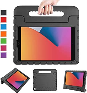 LTROP Case for iPad 10.2 2020/2019, iPad 8th Generation Case, iPad 7th Generation Case for Kids - Shockproof Light Weight Handle Stand Kids Case for Apple iPad 10.2-inch (8th/7th Gen) and Air 3, Black