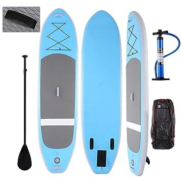 AIMADO Tabla de Surf Hinchable Híbrida SUP con Remo Bomba, Tabla de EVA, Convertible