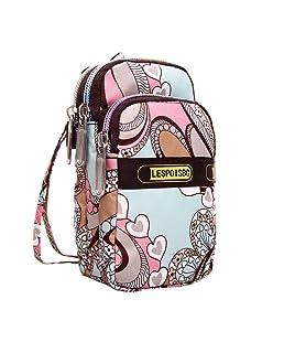 yijiamaoyiyouxia Women's Fashion Printing Zipper Sport Shoulder Bag Mini Wrist Purse (C)