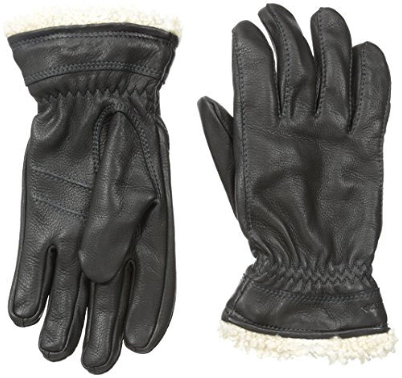 Hestra Women's Deerskin Primaloft Gloves Black 7 & Knit Cap Bundle