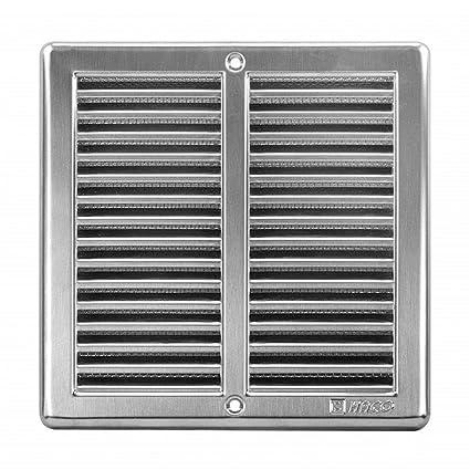 Rejilla de ventilación de acero inoxidable - 200 x 200 mm ...