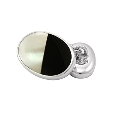 Sayers London Sterling Silver Satin Finish Square Cufflinks