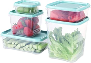 Fresh Friend Set of 5 Food Storage Containers with Lids BPA Free