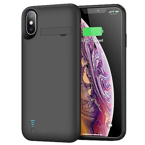 Amazon.com: Funda de batería para iPhone X/XS/10, 5000 mAh ...