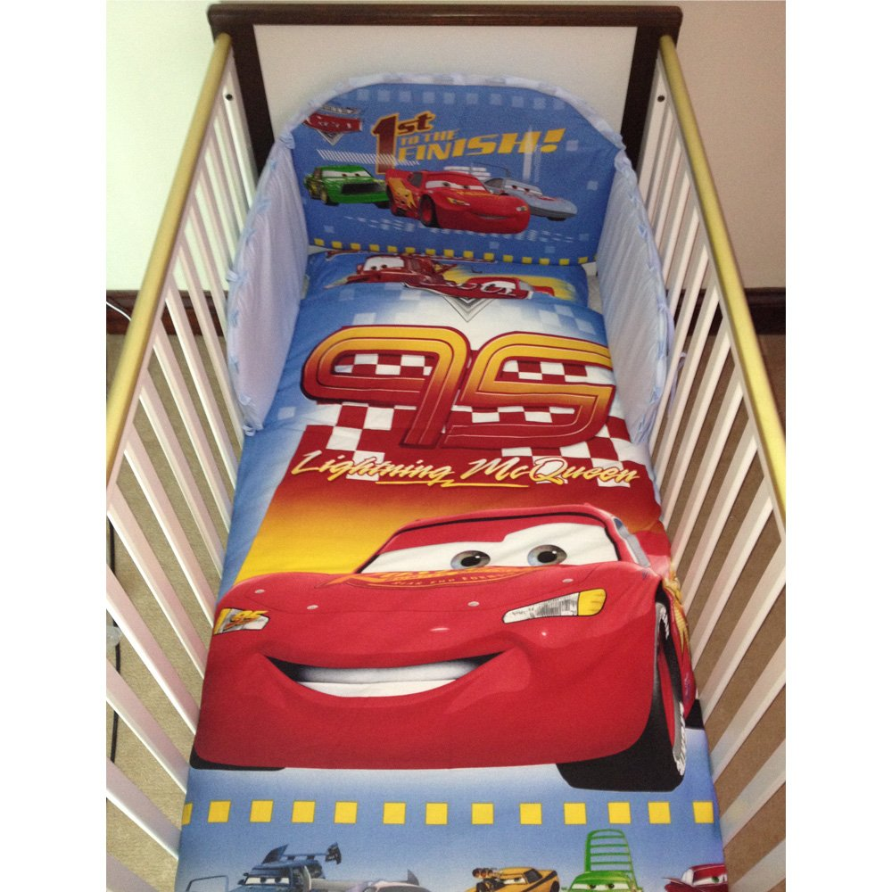 Disney Pixar Cars Lightning McQueen Bedding Set for Cot or Cotbed (Cotbed - 140 x 70cm) SleepLittleBaby