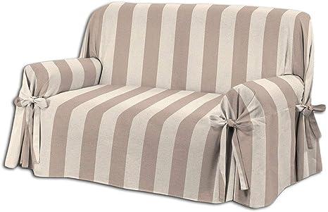 Onda - Funda para sofá de 2 plazas, Modelo Veronica a Rayas ...