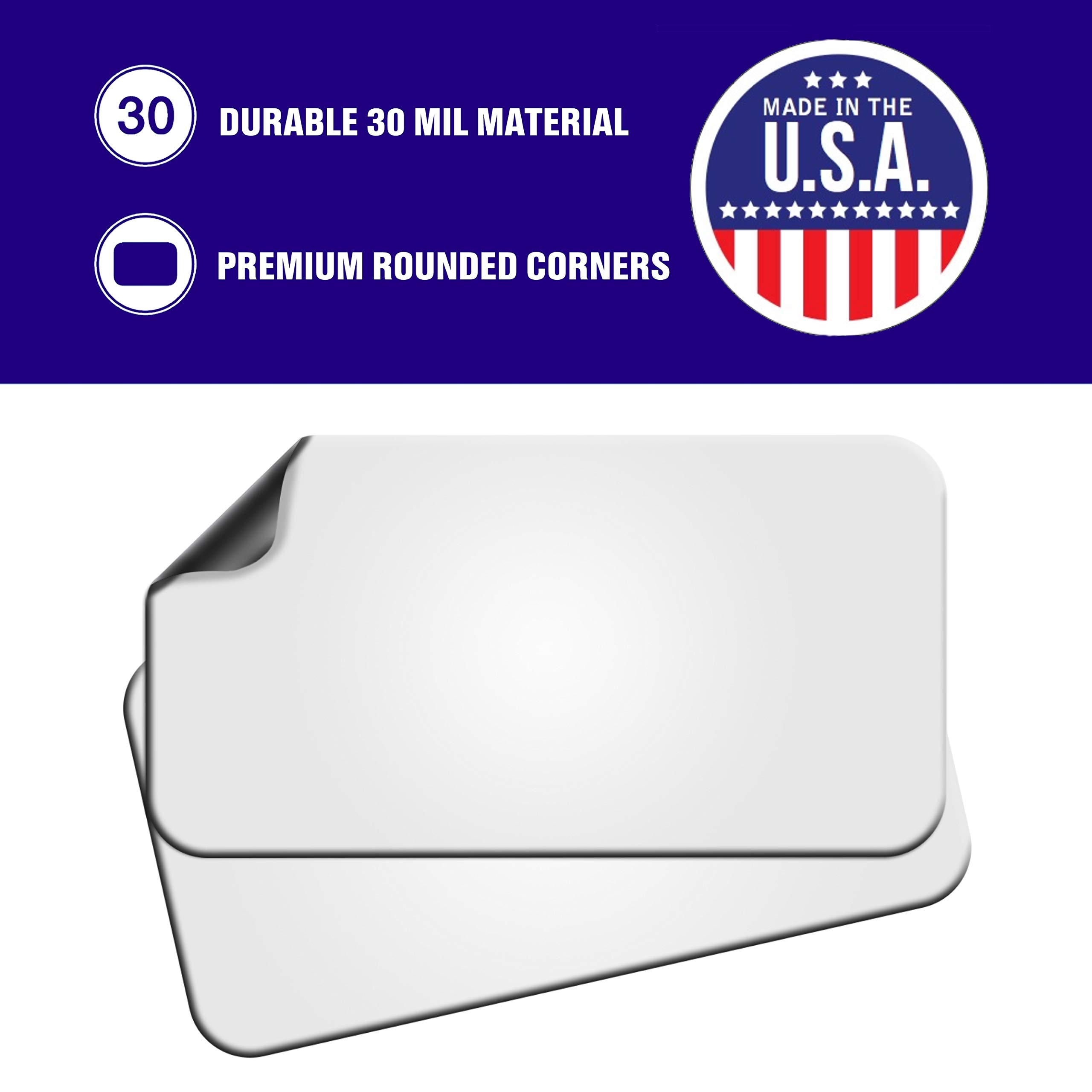 Blank Magnets (2 Pack) – Rounded Corners 12'' x 24'' Blank Car Magnet Set – Perfect Magnet for Car to Advertise Business, Cover Company Logo (for HOA), and Prevent Car Scratches & Dents – New! by SignHero (Image #4)