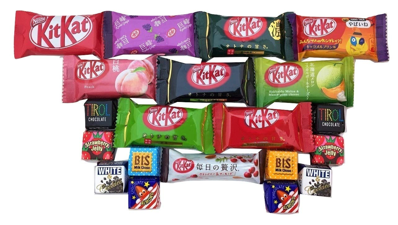 20 Japanese Kit Kat & Tirol Chocolate Gift bag Japanese candy